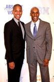 NATHAN WILLIAMS Photo - Nathan Hale Williams and Keith Boykin (Host of My Two Cents on Bet J Network) Arriving at the 19th Annual Glaad Media Awards at the Marriott Marquis in New York City on 03-17-2008 Photo by Henry McgeeGlobe Photos Inc 2008