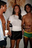 April Wilkner Photo - April Wilkner (americas Top Model) with Andre Resende and Daniel Bueno at Hms Sizzling Swimsuit Event at Hm Soho Loft in New York City on May 12 2004 Photo by Henry McgeeGlobe Photos Inc 2004