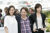 Charlotte Gainsbourg Photo - CANNES FRANCE - MAY 17 Actress Marion Cotillard actor Mathieu Amalric and actress Charlotte Gainsbourg  attends the Ismaels Ghosts (Les Fantomes dIsmael) photocall during the 70th annual Cannes Film Festival at Palais des Festivals on May 17 2017 in Cannes France(Photo by Laurent KoffelImageCollectcom)
