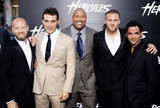 Aksel Hennie Photo - Aksel Hennie Rufus Sewell Dwayne Johnson Tobias Santelmann and Reece Ritchie at the Los Angeles premiere of Hercules held at the TCL Chinese Theatre in Los Angeles on July 23 2014 in Los Angeles California Credit PopularImages