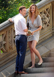 EVELINA PEREIRA Photo - Actors Justin Timberlake and Evelina Pereira on the Central Park set of the new movie Friends with benefits on July 21 2010 in New York City