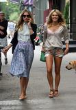 Ashley Hart Photo - July 19 2012 New York CityModels Jessica (L) and Ashley Hart walk in Soho on July 19 2012 in New York City