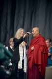 Patty Smith Photo - June 27 2015 Glastonbury EnglandPatti Smith and the Dalai Lama on stage at the 2015 Glastonbury Festival on June 27 2015 in Glastonbury EnglandPlease byline FamousACE PicturesACE Pictures Inc Tel 646 769 0430