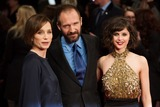 Kristin Scott Thomas Photo - Kristin Scott Thomas Ralph Fiennes and Felicity Jones arriving for the UK Premiere of The Invisible Woman at the Odeon Cinema KensingtonLondon 27012014 Picture by Dave Norton  Featureflash