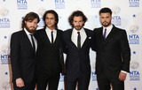 Howard Charles Photo - Luke Pasqualino Tom Burke Howard Charles Santiago Cabrera atThe National Television Awards 2014 (NTAs) held at the O2 Arena - Press Room London 22012014 Picture by Henry Harris  Featureflash