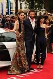 Rila Fukushima Photo - Tao Yakamoto Hugh Jackman and Rila Fukushima arriving for The Wolverine premiere Empire Leicester Square London 16072013 Picture by Steve Vas  Featureflash