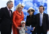 Heraldo Munoz Photo - (L-R) Chiles UN Ambassador Heraldo Munoz Suzanne Wright and her grandson Mattias Hildebrand with artist Yoko Ono and UN Under-Secretary-General Kiyo Akasaka pose for pictures during the unveiling of her mural to commemorate World Autism Awareness Day at the United Nations on April 2nd 2009 in New York City