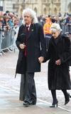 Anita Dobson Photo - CambridgeUK  Brian May and Anita Dobson  at the Professor Stephen Hawking Funeral at the Church of St Mary the Great The University Church Senate House Hill Cambridge UK  31st March 2018Ref LMK73-S1220-310318Keith MayhewLandmark Media WWWLMKMEDIACOM