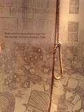 Crime Scene Photo - London UK   The rope and noose used for the execution of Doris Marmon One of the exhibits from the London Metropolitan Polices Crime Museum Also known as Scotland Yards Special Collection the Police Museum and once also the Black Museum (in relation to the nature of the crimes) The collection dates from 1874 after a change in the law about keeping items after a trial had finished It was never opened to the public the items retained were for training purposes and also to help other police forces about the importance of crime scenes evidence and detection methods This is the first time a selection from the collection has gone on public display at the Museum of London and will be there until April 2016 The Police Museum is currently at New Scotland Yard 7th October 2015 Ref LMK00-58490-071015Steve BealingLandmark Media WWWLMKMEDIACOM