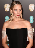 Jennifer Lawrence Photo - London UK Jennifer Lawrence at The EE British Academy Film Awards held at The Royal Albert Hall on Sunday 18 February 2018 Ref LMK392 -J1596-190218Vivienne VincentLandmark Media WWWLMKMEDIACOM