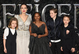 Angelina Jolie Photo - London UK Vivienne Jolie-Pitt Angelina Jolie Zahara Jolie-Pitt Shiloh Jolie-Pitt and Knox Jolie-Pitt at Maleficent Mistress Of Evil European Premiere held at BFI Imax Waterloo on Wednesday  9 October 2019Ref LMK392 -J5592-101019Vivienne VincentLandmark Media WWWLMKMEDIACOM