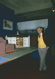 Shakespear Photo - London UK LIBRARY Sam Wanamaker (1919-1993)  in a building close to the site where the Globe Theatre was rebuilt He is seen here with the model which was used to display how the theatre would work Actor and writer Sam Wanamaker moved to London from the USA He set up the Shakespeare Globe Trust to re-build in the 17th century theatre which became linked with Shakespeares most famous productions The replica theatre was eventually built by Sam Wanamaker died before completion This year marks the 400 year anniversay of William Shakespeares death on 23rd April 1616 ReCaptioned 19th February 2016 RefPIP-LMK11-LIB190216-001 People in Pictures-Landmark Media WWWLMKMEDIACOM