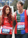 Andrew Strauss Photo - London UK  Amy Childs and Andrew Strauss  at the London Marathon 2013 Celebrities Photocall outside the Tower Hotel London 17th April  2013Keith MayhewLandmark Media
