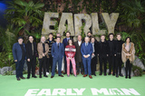 George Smith Photo - London England 140118Johnny Vegas Eddie Redmayne Rob Byrdon Maisie Williams Tom Hiddleston Nick Park George Smith Blake Richardson Reece Bibby Carla Shelley and the crew of the film attend the Early Man World Premiere held at BFI IMAX 14 January 2017Ref LMK386-MB1114-140118Gary Mitchell  Landmark MediaWWWLMKMEDIACOM