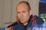 Arjen Robben Photo - London UK  Bayern Munich player Arjen Robben at a press conference at the Landmark Hotel before their game against Arsenal in the Champions League match against Arsenal Bayern Munich won the game 2-0 on the 19th February 2014  Press conference 17th February 2014 RefLMK326-47733-210214  Matt LewisLandmark Media WWWLMKMEDIACOM