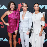 Ali Krieger Photo - NEWARK NEW JERSEY USA - AUGUST 26 American soccer players Alex Morgan Ashlyn Harris and Ali Krieger arrive at the 2019 MTV Video Music Awards held at the Prudential Center on August 26 2019 in Newark New Jersey United States (Photo by Xavier CollinImage Press Agency)
