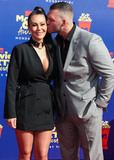 Jenni JWoww Photo - SANTA MONICA LOS ANGELES CALIFORNIA USA - JUNE 15 Jenni JWoww Farley and Zack Clayton Carpinello arrive at the 2019 MTV Movie And TV Awards held at Barker Hangar on June 15 2019 in Santa Monica Los Angeles California United States (Photo by Xavier CollinImage Press Agency)