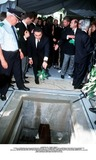 As Yet Photo - IMAPRESS PH  CLEMOT  BENITOFUNERAL OF PRINCESS LEILA PAHLAVI IN PARIS 16TH JUNE 2001 IN TOTAL BEREAVEMENT THE EX-EMPRESS OF IRAN FARAH PAHLAVI BURIED HER DAUGHTER IN THE PASSY CEMETERY IN PARIS LEILA PAHLAVI 31 PASSED AWAY A WEEK AGO IN LONDON THE OFFICIAL COMMUNIQUE WRITTEN BY HER MOTHER INDICATED THAT SHE PASSED AWAY IN HER SLEEP BUT THE EXACT CIRCUMSTANCES OF THE DEACEASED REMAIN AS YET UNKNOWNREZA II DROPS A FLOWER ONTO HIS SISTERS COFFINCREDIT IMAPRESSCLEMOTBENITOGLOBE PHOTOS INC