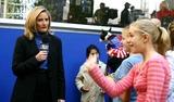 ALEX WITT Photo - Msnbc at Democracy Plaza Rockefeller Center  New York City 10312004 Photo by William ReganGlobe Photosinc Alex Witt
