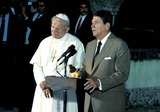John Paul Photo - Pope John Paul Ii and Ronald Reagan Photo Doug Vann  Ipol  Globe Photos Inc 1987