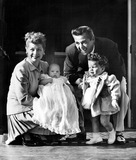 Desi Arnaz Photo - Lucille Ball and Desi Arnaz with Daughter Lucie and Son Desi Jr on His Christening Day 29081 Supplied by Globe Photos Inc