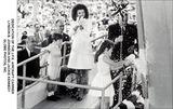 JFK Jr Photo - Dedication of Jfk Aircraft Carrier Lyndon B Johnson and Jackie Kennedy Globe Photos Inc