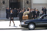 Heather Menzies Photo - The Pallbearers Carry the Casket Widow Heather Menzies Follows on the Right Behind Them Memorial Service For Actor Robert Urich St Charles Catholic Church North Hollywood CA April 19 2002 Photo by Nina PrommerGlobe Photos Inc2002