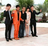 Tan Zhuo Photo - Wu Wei Chen Sicheng Lou Ye Tan Zhuo  Qin Hao Actors  Director Spring Fever Photo Call at the 2009 Cannes Film Festival at Palais Des Festival Cannes France 05-14-2009 Photo by David Gadd Allstar--Globe Photos Inc 2009