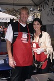 John Tesh Photo - Connie Sellecca with John Tesh Los Angeles Mission Feeds Homeless For Thanks in LA Mission  California 2001 K2345eeg Supplied by Globe Photos Inc