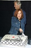Chris Carter Photo - The X-files 200th Episode Celebration the Fox Studios Lot Los Angeles 542 Creator Chris Carter and Gillian Anderson at Cake Cutting Credit AllstarGlobe Photos Inc