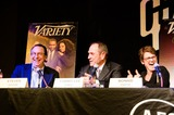 Tommy Lee Jones Photo - Variety Magazine Presents Austin Film Society Press Conference 2015 Moderator Steven Gaydos and Panelists Tommy Lee Jones and Bonnie Curtis React to Tommys Answer to One of the Media Questions