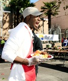 Aldis Hodge Photo - Aldis Hodge - LA Mission Serves Christmas Meal to the Homeless - Los Angeles California - 12-22-2006 - Photo by Nina PrommerGlobe Photos Inc 2006
