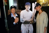 Babe Ruth Photo - Donruss Trading Cards to Unveil Plans For the 1925 Game Worn Babe Ruth Jersey New York City 10202003 Photo by Rick MacklerrangefindersGlobe Photos Inc Drea DE Matteo and Babe Ruths Daughter Julia Ruth Stevens