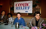 Harold Ramis Photo - Comic Relief Billy Crystal Whoopi Goldberg Robin Williams and Harold Ramis Photo Byrobert LandauGlobe Photos Inc