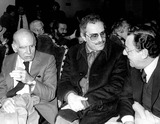 Nino Manfredi Photo - Retrospective of Nino Manfrediitalian Actor Who Died Today Ay the Age of 83 Years Old Here Director Luigi Comencini and Italian Actors Nino Manfredi and Alberto Sordi in 1980 Nino Manfredi Ninomanfrediretro Photo BylapresseGlobe Photos Inc