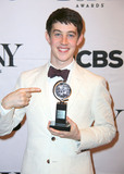 Alex Sharp Photo - Alex Sharp with Tony For Best Actor in Leading Role in a Play in the 2015 Tony Awards Media Room 3 East 51st St NYC June 7 2015 Photos by Sonia Moskowitz Globe Photos Inc