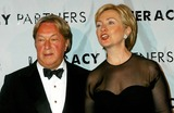 Arnold Scassi Photo - Literacy Partners Host 20th Annual Gala an Evening of Readings at Lincoln Center in New York City 5032004 Photo Byrick MacklerrangefindersGlobe Photosinc 2004 Arnold Scassi and Hillary Clinton
