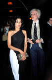 Andy Warhol Photo - Bianca Jagger and Andy Warhol Photo Hy Simon-Globe Photos Inc