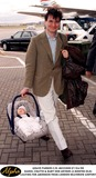 Lady Sarah Chatto Photo - 0499 Daniel Chatto  Baby Son Arthur (2 Months Old) Leaving For Aberdeen From London Heathrow Airport