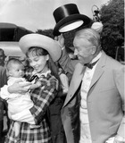 Maurice Chevalier Photo - Leslie Caron Introduces Son to Maurice Chevalier on Set of Gigi Photo Globe ArchiveGlobe Photos Inc