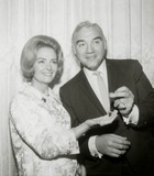 Donna Reed Photo - Donna Reed and Lorne Greene Hold Golden Apple Awards Presented by the Hollywood Womens Press Club Photo Nate CutlerGlobe Photos Inc