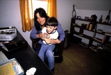 Linda Lovelace Photo - Linda Lovelace_son Dominic Photo by Michael NiscarGlobe Photosinc1982 Obit