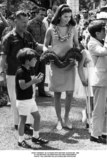 JFK Jr Photo - John F Kennedy Jr in Hawaii with His Mother Jacqueline at the Birthday Celebration For King Kamahameha 1966 Photo the Lawford CollectionGlobe Photos Inc