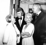 Eva Gabor Photo - Eva Gabor with Frank Jamieson  Rona Barrett and Bill Trowbridge Supplied by Globe Photos Inc