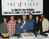 Chris Carter Photo - The X-files 200th Episode Celebration at Fox Studio Stage 5 in Los Angeles CA Robert Patrick Gillian Anderson Chris Carter David Duchovnyannabeth Gish James Pickens Jr Photo by Fitzroy Barrett  Globe Photos Inc 4-5-2002 K24619fb (D)