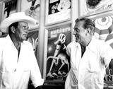 Gary Cooper Photo - John Wayne and Gary Cooper 27340 Globe Photos Inc Johnwayneobit