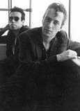 Joe Strummer Photo - the Clash at Vienna Austria Airport 10-1981 Photo by Felix Zeitlhofer-pr-Globe Photos Joe Strummer and Mick Jones