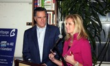 ANN ROMNEY Photo - Mitt Romney Book Signing For His New Book No Apology the Case For American Greatness at Revue Bookstore in Huntington Long Island 03-03-2010 Photo by William Regan- Globe Photos Inc 2010 Mitt Romney and Wife Ann Romney