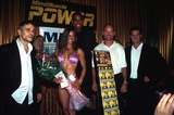 Jason Williams Photo -  7142000 the MS New York Hot Body Contest NYC Jason Williams (C) Winner with Flowers Photo by Rick MacklerrangefinderGlobe Photos Inc