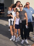 Annie Guest Photo - Jamie Lee Curtis with Daughter Annie Guest  Son Tom Guest and Nanny 1996 at Aids Walk in Los Angeles K6329lr Photo by Lisa Rose-Globe Photos Inc